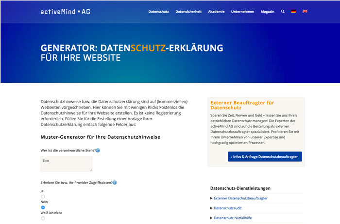 Datenschutzgenerator