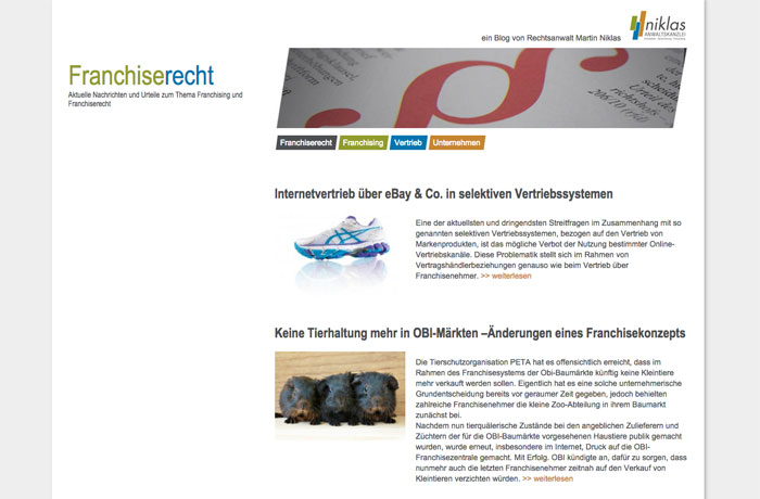 Franchiserecht Blog