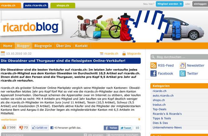 ricardo.ch Blog
